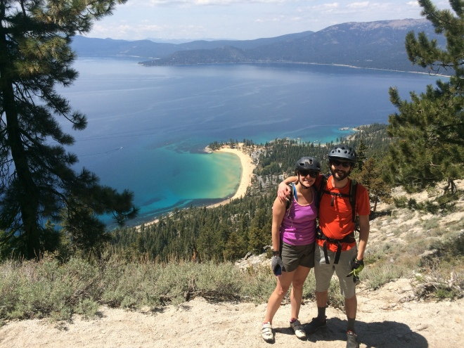 View of Sand Harbor from the Flume Trail