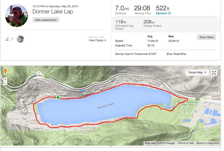 Donner Lake Map Donner Lake Ride Strava Map