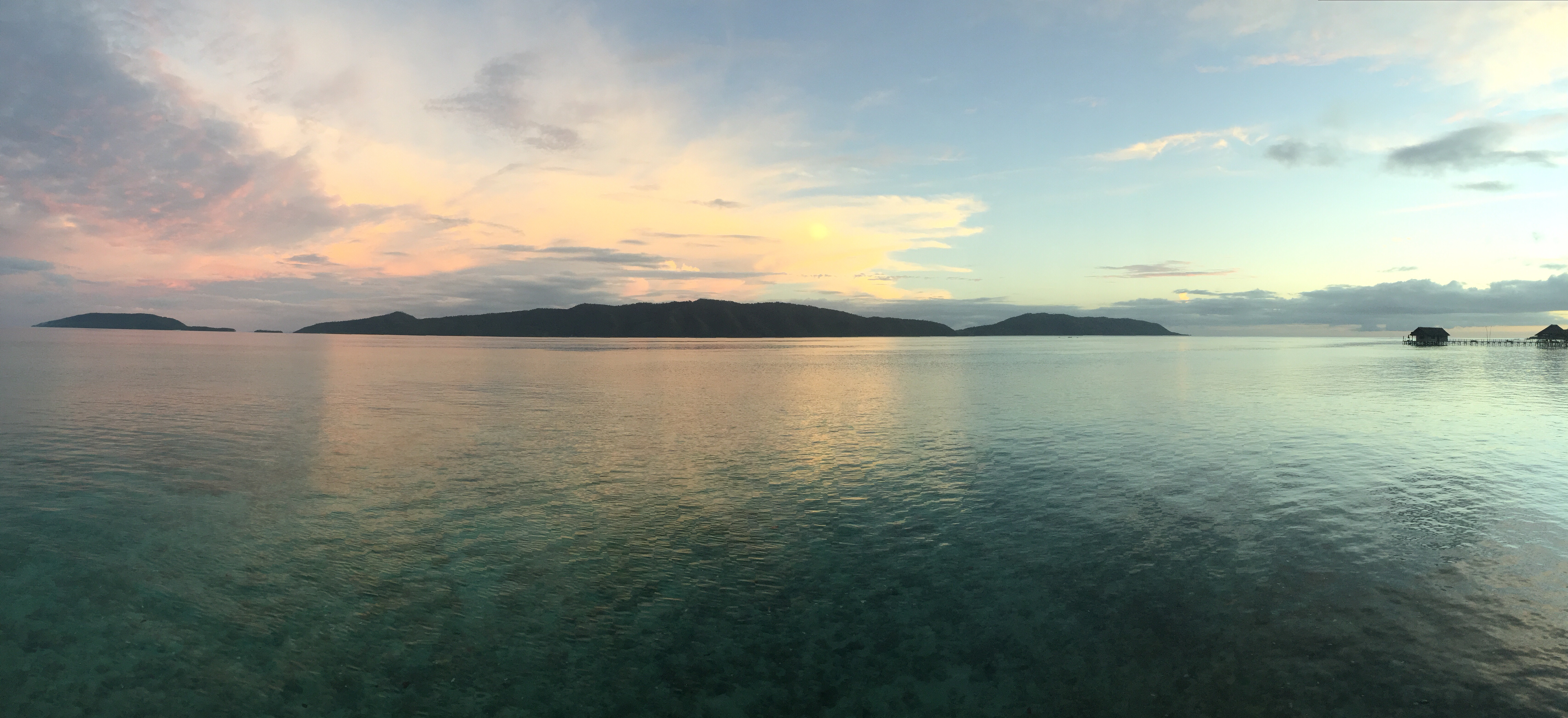 Sunset over Pulau Mansuar